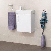 Preston Gloss White Wall Hung Vanity Unit