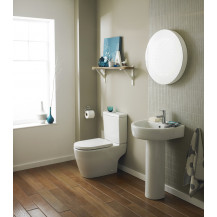 Provost Semi Flush to Wall Close Coupled Toilet excluding Seat
