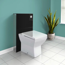 Black Deluxe WC Unit and Concealed Cistern with Tabor™ Back to Wall Toilet