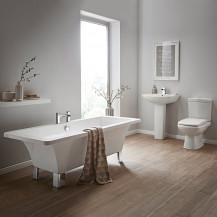 Athena Revive Bathroom Suite with Quadra™ Basin Mixer & Bath Filler