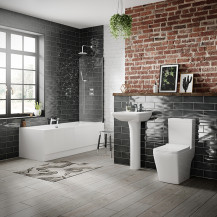 Voss 1700 x 750 Right Hand Bathroom Suite