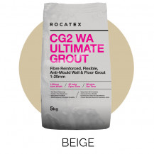Rocatex CG2 WA Ultimate Beige 5kg Grout Bag