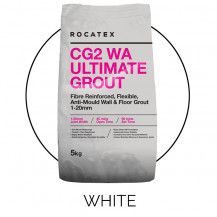 Rocatex CG2 WA Ultimate White 5kg Grout Bag