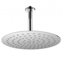Round Slimline Shower Head 250x250 with 100mm Shower Arm