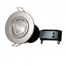 Fixed Fire Rated Downlight - Chrome Twist & Lock