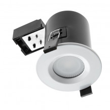 Hudson Reed Fire & Acoustic Shower Light Fitting IP65 White