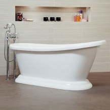 Traditional 1700 x 700 Single Ended Slipper Bath