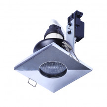 Fixed Square Fire Rated IP 65 Downlight Chrome