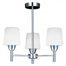 Veva 3 Arm Chrome Ceiling Light With White Shade