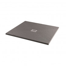 900 x 900 Grey Slate Effect Square Shower Tray with Waste