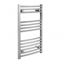 Stowe 800 x 500mm Curved Heated Towel Rail Silk Grey Gloss