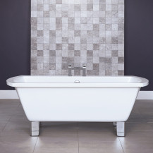 Tabor™ 1670 x 750 Freestanding Bath with Modern Feet