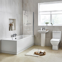 Tabor 46 Full Pedestal Suite with Tabor Shower Bath
