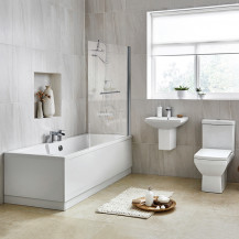 Tabor 56 Semi Pedestal Suite with Tabor Shower Bath