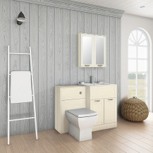 Nottingham 600 Ivory Combination Unit with Tabor Back to Wall Toilet
