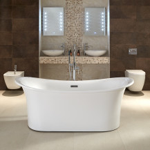Torrelino 1700 x 800mm Double Ended Slipper Bath