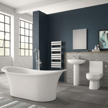 Torrelino Freestanding Bath Complete Bathroom Suite