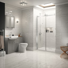 Traditional Grey Park Royal Suite with Shower Door & Single Tap Hole Basin