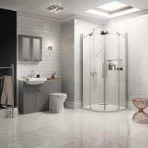 Traditional Grey Park Royal Suite with Quadrant Shower & Single Tap Hole Basin