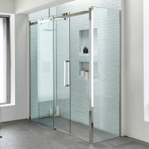 Trinity Premium 10mm 1600 x 760 Right Hand Frameless Sliding Door Enclosure