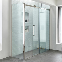 Trinity Premium 10mm 1600 x 760 Left Hand Frameless Sliding Door Enclosure
