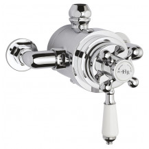 Hudson Reed White Topaz Exposed Dual Shower Valve