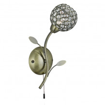 Bellis II Antique Brass Wall Light