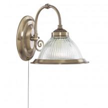 American Diner Antique Brass Wall Light