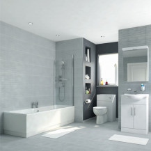 Voss 55 Vanity Unit Shower Bath Bathroom Suite