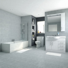 Voss 105 Vanity Unit Shower Bath Bathroom Suite