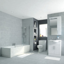 Voss 65 Vanity Unit Shower Bath Bathroom Suite