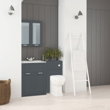 Nottingham 600 Grey Combination Unit with Park Royal™  Back to Wall Toilet