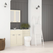 Nottingham 600 Ivory Combination Unit with Park Royal™ Back to Wall Toilet
