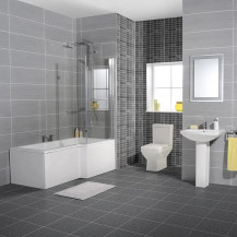 Tabor™ 1700 Shower Bath 46 Bathroom Suite