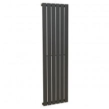 Vega 1600 x 450mm Single Flat Panel Anthracite Vertical Radiator