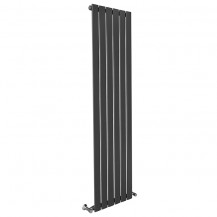 Vega 1800 x 450mm Single Flat Panel Anthracite Vertical Radiator