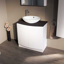 Voss™810 Floor Mounted Black Countertop Vanity Unit