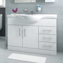 Windsor™ 105 White Vanity Basin Unit