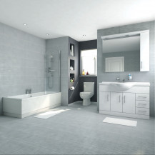 Voss Dee 120 Vanity Unit Shower Bath Bathroom Suite