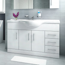 Windsor™ 120 White Vanity Basin Unit