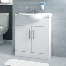 Windsor™ 65 White Vanity Basin Unit
