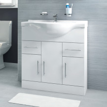 Windsor™ 75 White Vanity Basin Unit