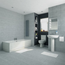 1700 x 750 Voss Dee Shower Bath Bathroom Suite