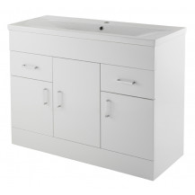 Premier Eden White Minimalist 1000mm Basin Unit