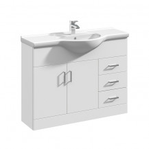 Premier Mayford High Gloss White 1050 Basin Unit