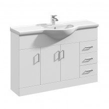 Premier Mayford High Gloss White 1200 Basin Unit