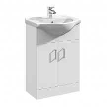 Premier Mayford High Gloss White 550 Basin Unit
