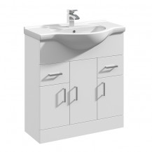 Premier Mayford High Gloss White 750 Basin Unit