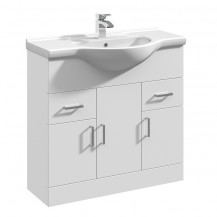 Premier Mayford High Gloss White 850 Basin Unit