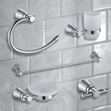 Capri 5 Piece Bathroom Accessory Pack
